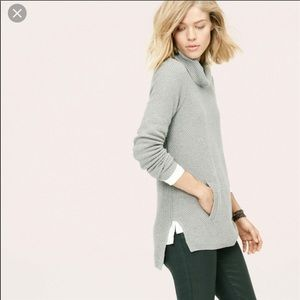 LOU & GREY drapeneck tunic sweater